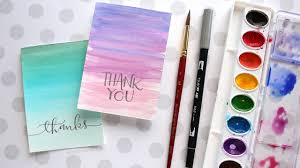 water color cards easy diy thank you cards ombré watercolor