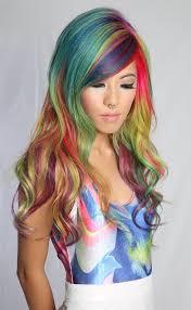 pony hair my pony hair sand rainbow hair color popsugar