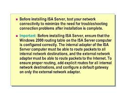 Windows Routing Table Module 2 Installing And Maintaining Isa Server Ppt Download