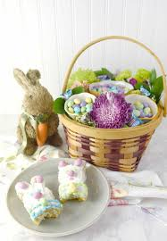 bunny mini cakes and floral u0026 candy basket sprinkle some fun