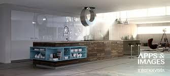 New Modern Kitchen Designs by Modern Wood Blue White Kitchen Interior Design Ideas