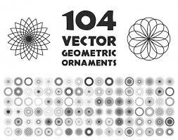 104 geometric ornaments vector free