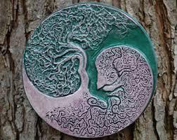 mandala wall art garden wall art stone plaque meditation