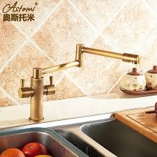 Retro Kitchen Faucet European Style Retro Kitchen Faucet Copper Folding Telescopic Cold