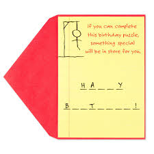 thanksgiving hangman hangman birthday card
