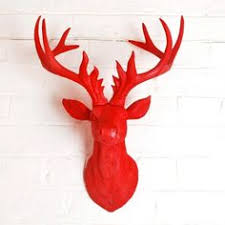Christmas Reindeer Head Wall Decoration by Antelope Faux Taxidermy Faux Deer Head Hodi Home Decor Faux