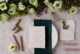 handmade invitations copper foil wedding invitations on handmade paper