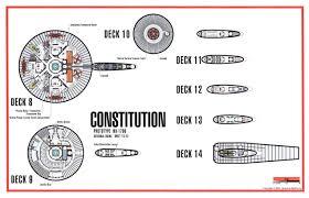 deck 8 to 14 constitution class star trek tech pinterest