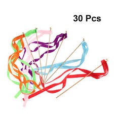 ribbon sticks 30x colorful twirling streamers wedding favor ribbon sticks wands