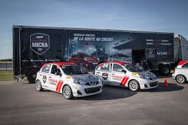 nissan micra rally car track event nissan micra cup canadian auto review