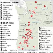 Wildfire Map Northwest 2017 by Here Are The Largest Wildfires In Washington State Oregon The
