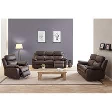 canapé cuir relax electrique 3 places canapé relax électrique 3 places cuir brun esther univers du salon