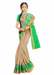 beige green beige green banarasi silk saree