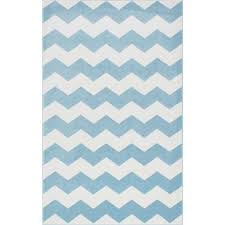 nuloom aponte chevron light blue 5 ft 3 in x 7 ft 9 in area