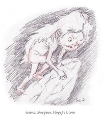 the art of christian bocquée concept sketch wolf child