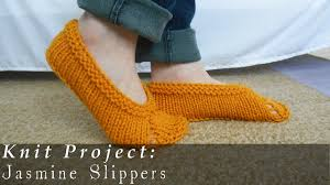 jasmine slippers quick u0026 easy knit youtube
