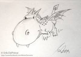 cute flying dragon sketch by erikdeprince on deviantart