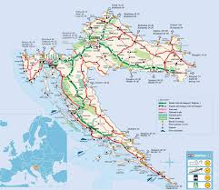 Zagreb Map Detailed Map Of Roads In Croatia With Border Crossings