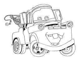 free printable disney cars tow mater coloring pages 507203