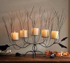 Pottery Barn Pillar Candles Spooky Woods Pillar Candle Centerpiece Pottery Barn