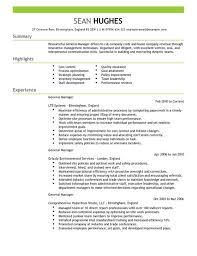 Exles Of Resumes Qualifications Resume General - general manager cv exle for management livecareer