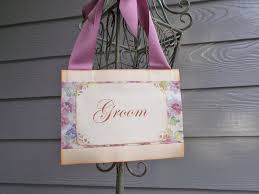 Bride And Groom Chair No 109 Purple Floral Bride And Groom Chair Signs Wedding Door