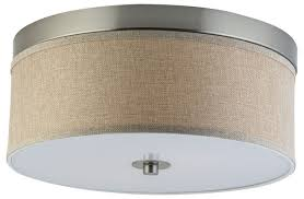 Kitchen Collection Locations Linea Di Liara Occhio 15 Inch Natural Linen Two Light Ceiling