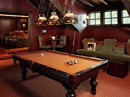 Red Felt Pool Table Dishy Leather Parsons Chairs With Green Throw Pillow Tan Felt Pool