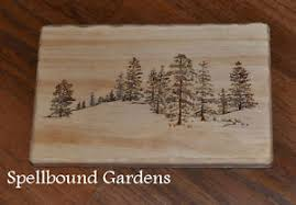 wooden pine tree wall handmade rustic wood burn pine tree lined rolling wall