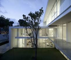 minimal home minimal house with hangar style rear facade