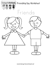 friendship day worksheet free kindergarten holiday worksheet for