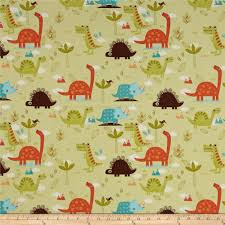 riley blake home decor dinosaur green discount designer fabric