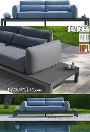 canape jardin aluminium canapé de jardin aluminium hpl 3200