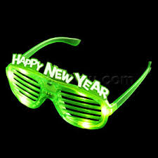 led new years new year s eyeglasses party supplies coolglow
