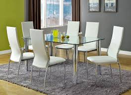 Modern Glass Dining Table Modern Round Glass Dining Table U2013 Decoist Modern Glass Dining Room