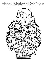 coloring pages mothers day flowers flower bouquet for mommy on mothers day coloring page coloring sun