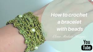 bracelet crochet beads images How to crochet a bracelet with beads crochet tutorial jpg