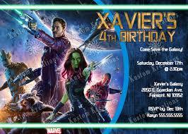 guardians of the galaxy birthday invitations kustom kreations
