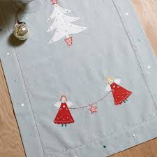 Christmas Table Runner Decoration by Personalised Christmas Table Runner Hessian Material Red Family
