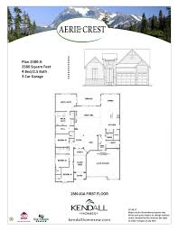 floor plans for homes with a view aerie crest kendall homes