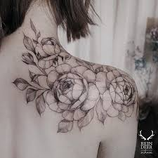 sketchy black outline flowers tattoo inky pinterest flower
