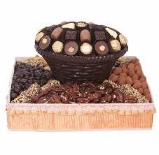 Nut Baskets Square Dark Chocolate U0026 Nut Gift Basket U2022 Chocolate Mold Gift