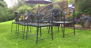 Green Wrought Iron Patio Furniture by Antique Dining Chairs Sets Of 6 Hares Antiques