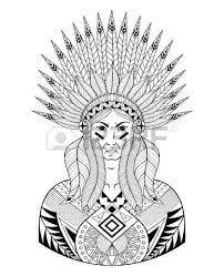 coloring pages of indian feathers vector war bonnet with color feathers american native headdress