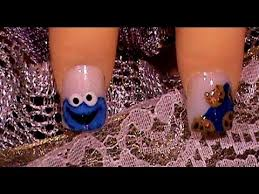 cookie monster nails step by step www sbbb info