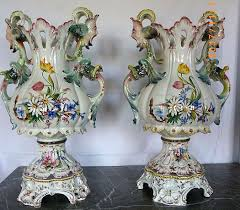 large italian ornamental vases 60 cm high mid 20th century catawiki