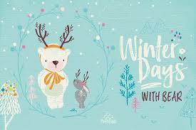 winter days with illustrations creative market