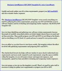 business intelligence rfi rfp template by axia consultants thinglink
