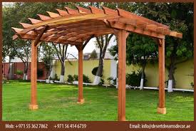 Swing Pergola by Manufacturer And Install Wooden Pergola In Uae