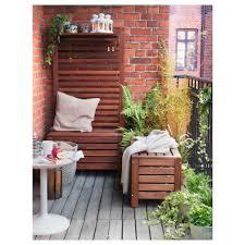 storage bench äpplarö storage bench outdoor brown stained 80x41 cm ikea